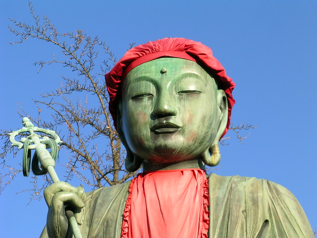 Jizo statue in Zenkoji, Nagano