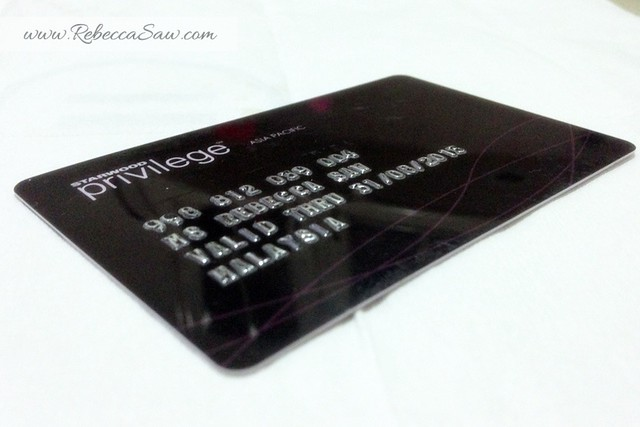 SPG Privilege card - Starwood Hotels