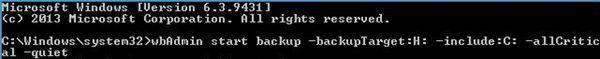 Как создать резервный образ системы 8.1