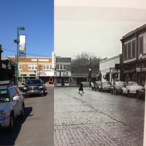 #aggieville today and 1930s. #manhattanks
