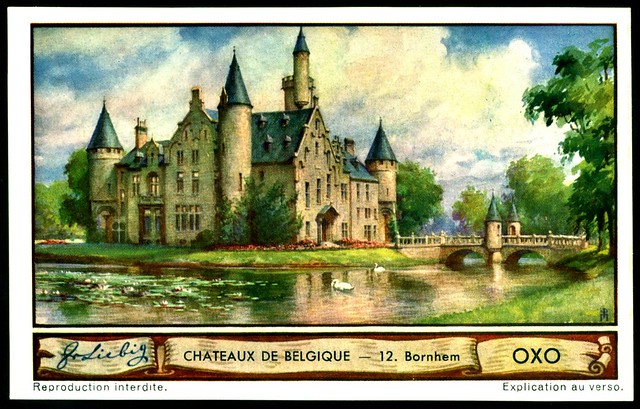 Liebig Tradecard S1288 Belgian Chateaux ~ Bornhem