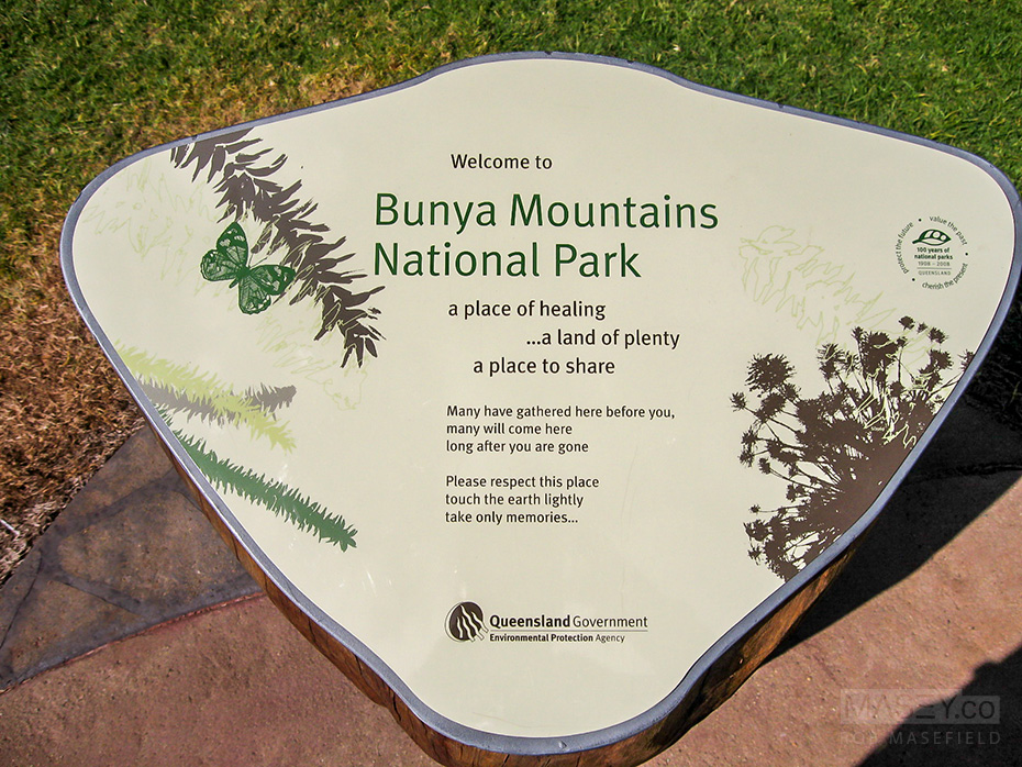 Welcome to the Bunya Mountains National Park.