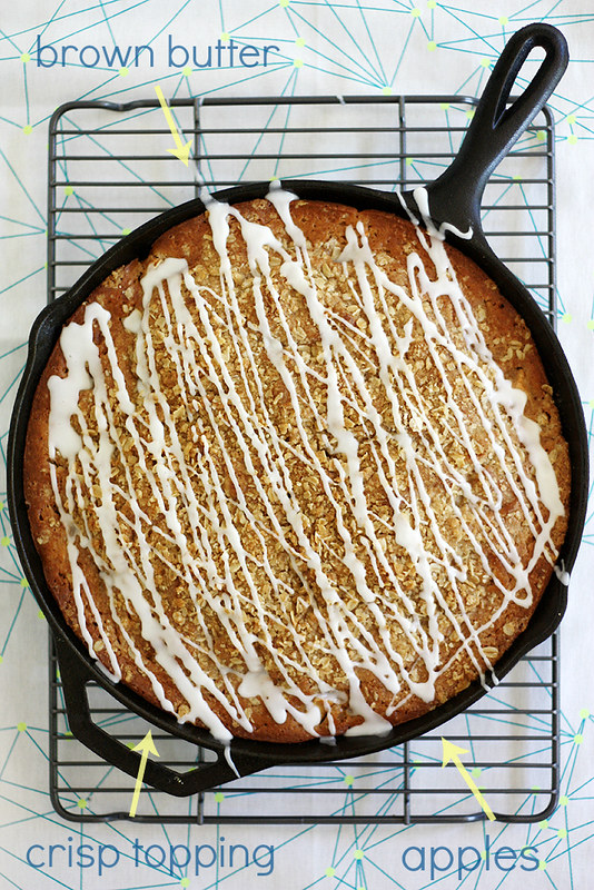 brown butter apple crisp skillet muffin bread