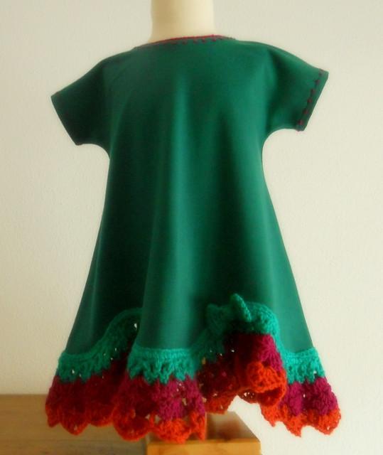 Vestido niña verde billar