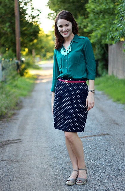 polka-dot-skirt,-teal-shirt-5