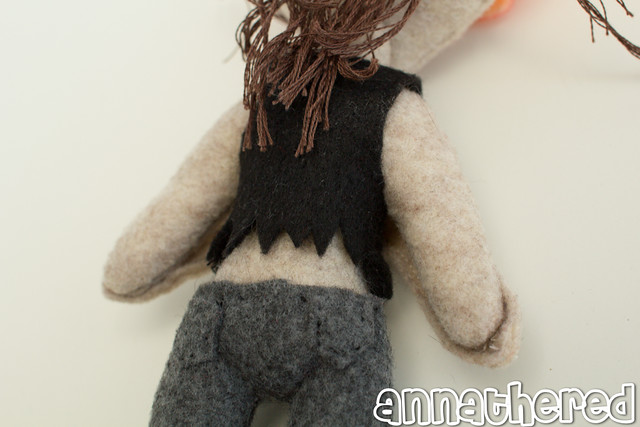stuffed stuff: Clicker from The Last of Us based on art by Alexandria Neonakis