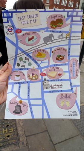 East London Tour Map with Eating London!