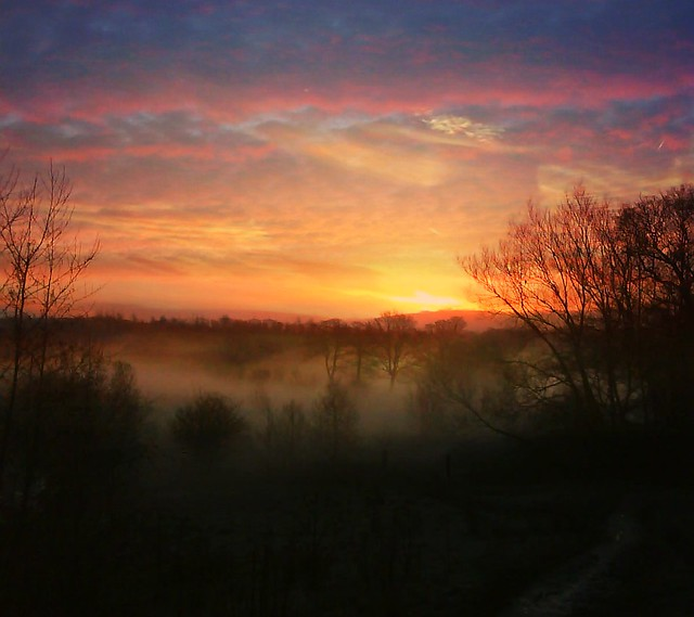 RV&Sunrise over the Penines