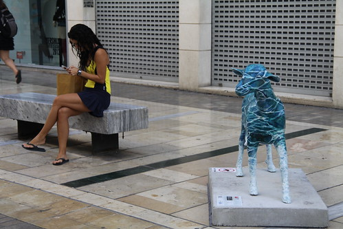 Oh my goat! Exposición al aire libre homenaje a la cabra malagueña
