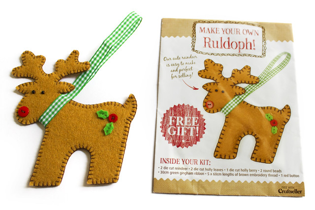 Reindeer felt kit from Craftseller magazine
