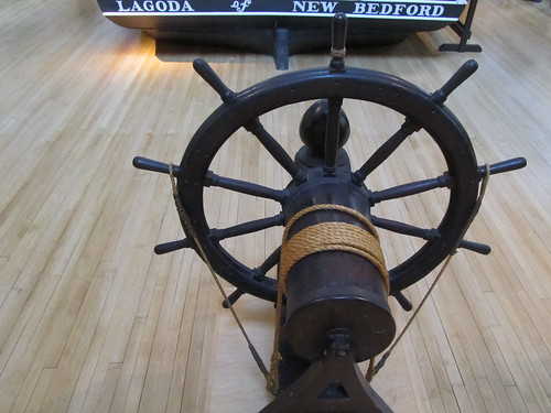 USA - Massachusetts - New Bedford - New Bedford Whaling Museum - Steering wheel of whaling ship - Lagoda of New Bedford