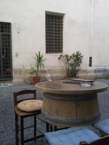 Wine Barrel Bar, near the Pantheon, Rome