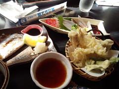 大分旅行2013 国東半島 太刀魚(焼魚、刺身、てんぷら)