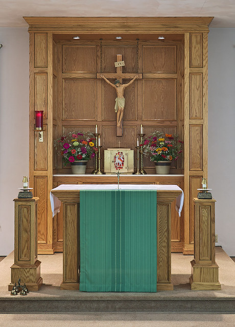 Saint Anthony Roman Catholic Church, in Glennon, Missouri, USA - altar