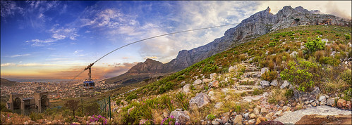 sunset mountain table southafrica capetown aerial cablecar photomerge cableway canon6d 1740mmefl 6verticalimages