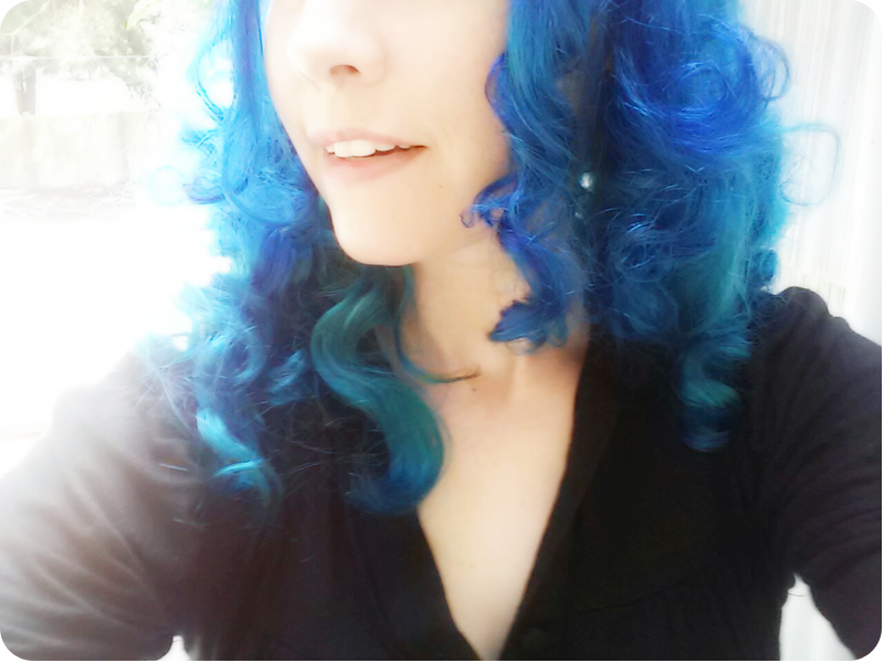 {blue haired me} Carrie Elias