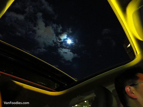 Moon-gazing through the skyroof