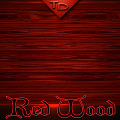 Red wood grain background