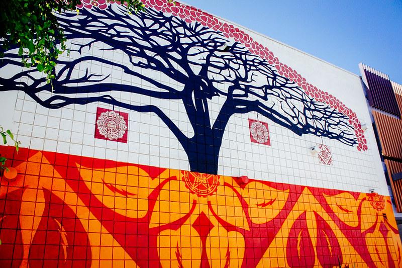 street art, los angeles, obey, california, graffiti