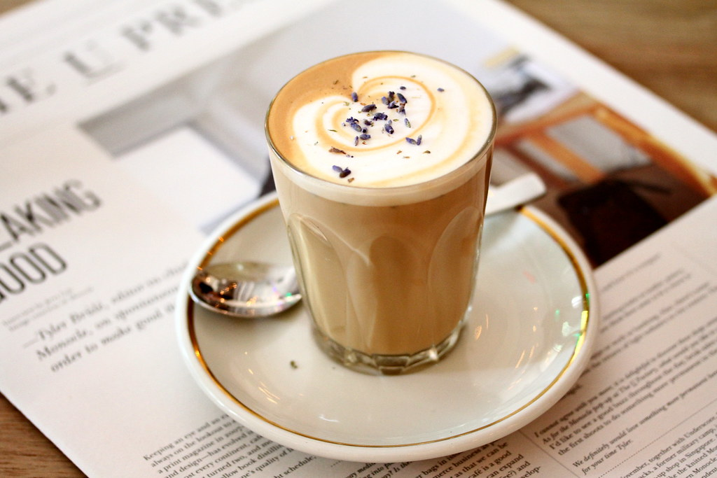 Food Guide to Jalan Besar & Lavender: The Bravery's latte with hints of floral notes