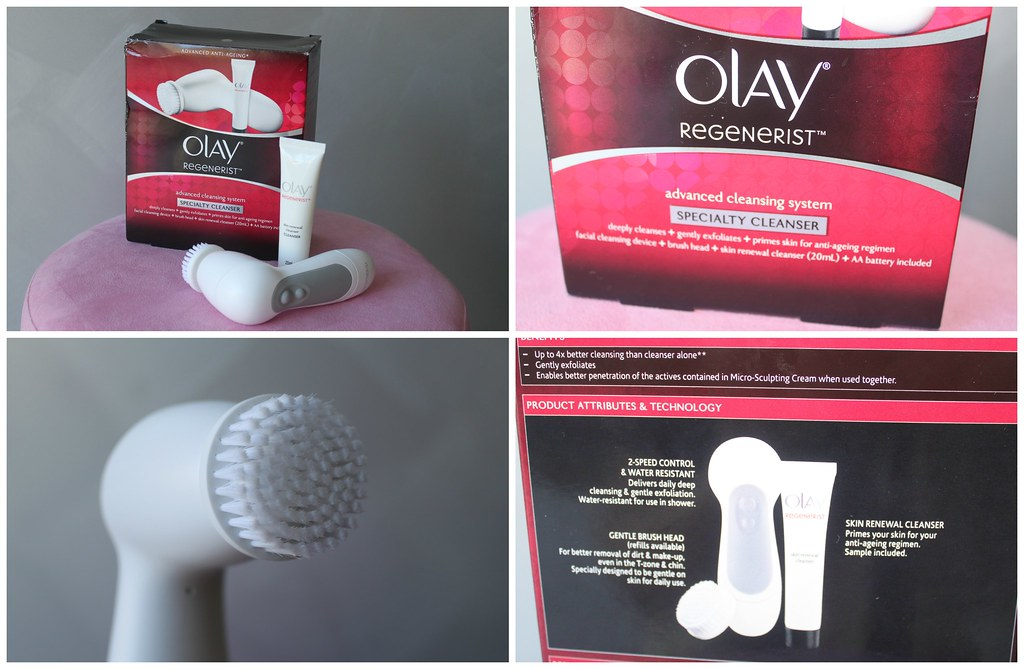Olay Regenerist Advanced Cleansing System cleanser australian beauty review blog blogger ausbeautyreview skin care clear anti ageing cleanse wash brush automatic