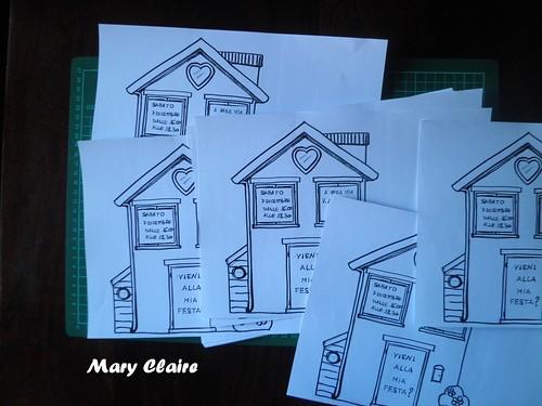 casa con scritte