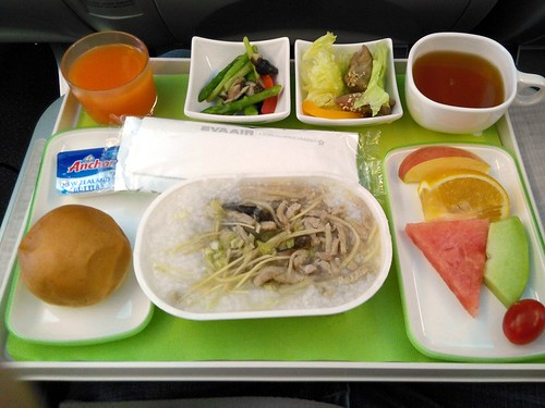 EVA Air's Chinese Porridge Breakfast