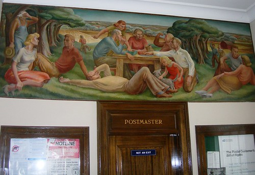 Horton, KS post office interior mural (by: Jimmy Emerson, creative commons)