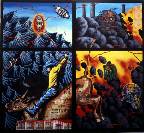 David Wojnarowicz, The Death of American Spirituality, 1987, at the Hammer Museum's