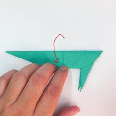 สอนวิธีการพับกระดาษเป็นรูปปลาฉลาม (Origami Shark) 030