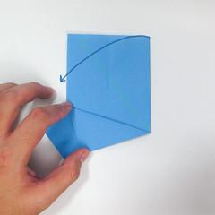 วิธีการตัดกระดาษเป็นห้าเหลี่ยมจากกระดาษสี่เหลี่ยมจตุรัส 007