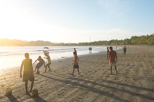 sunset beach football costarica fujifilm sámara fujinon23mmf2 x100s