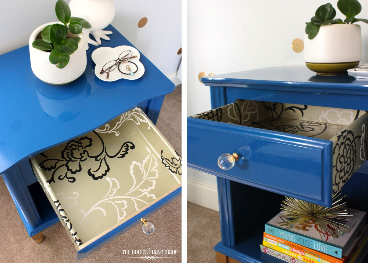 Blue and Gold Nightstand-010