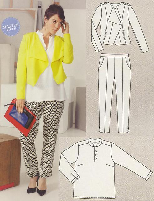 Burda-Plus-2014-SS Pants and Jacket