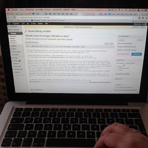 Blogeintrag schreiben. #12v12