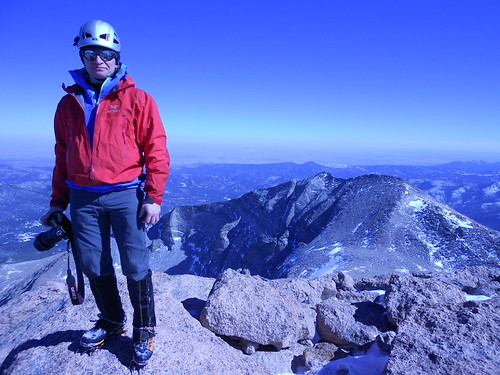 Slava on Longs Peak Summit