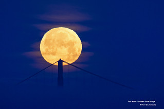 Full Moon - Golden Gate Bridge