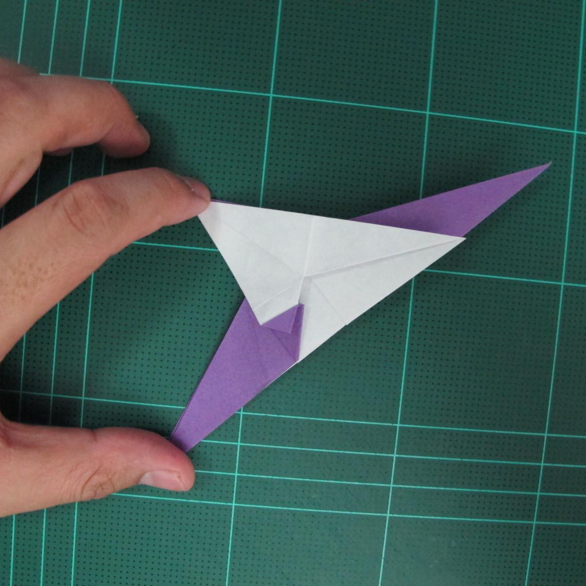วิธีพับกระดาษเป็นรูปนกอินทรี (Origami Eagle) 018