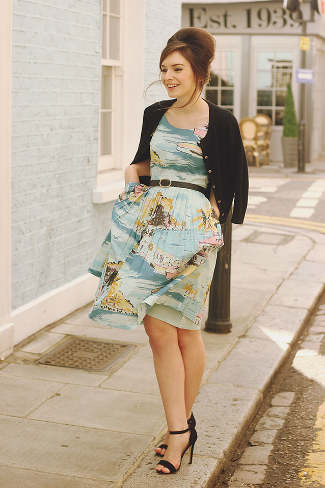 Boden Dress Fifties Outfit Pastel Outfit