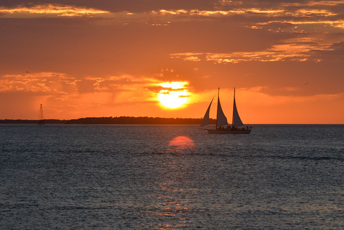 Ship at Key West Sunset