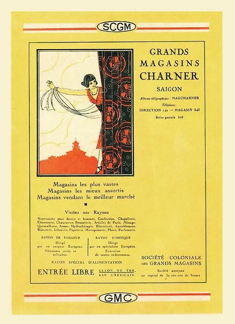 1927 Publicite, Grands Magasins CHARNER, Saigon - Indochine