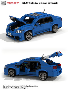 SEAT Toledo MkIV -  PQ25 (Eurobricks Miniland Car Design Competition)