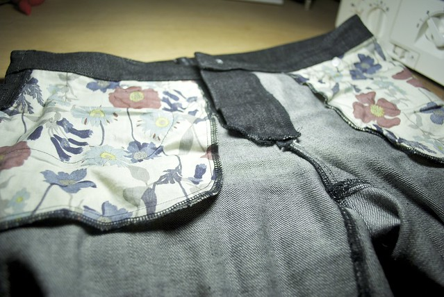 Mood Fabrics Black distressed denim