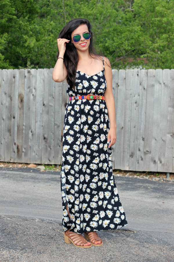 daisy print dress
