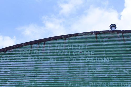 green abandoned missouri bowlinggreen ghostsign