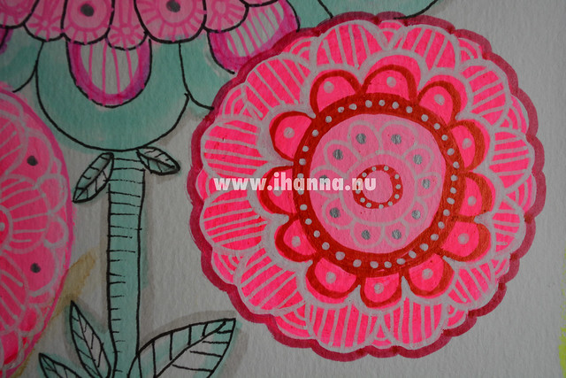 Pink Flower Mandala Art Journal Detail, all by iHanna of www.ihanna.nu