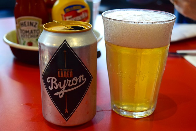 Byron House Lager at Byron Burger, Canterbury