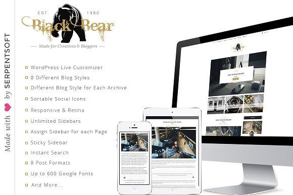 Blackbear v1.1 - A WordPress Blog Theme