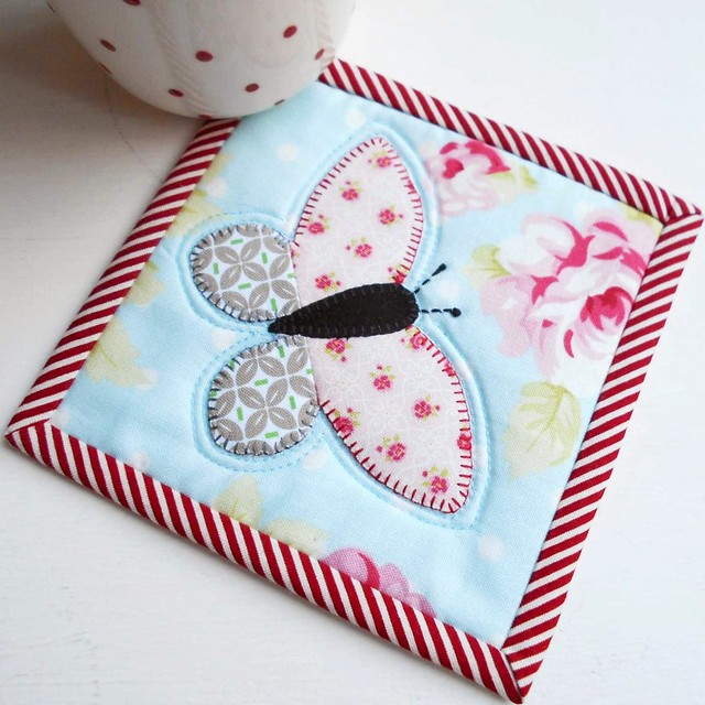 Mothers Day Butterfly Patch Coaster