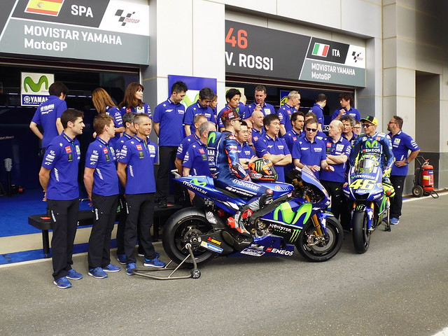Yamaha Team poses
